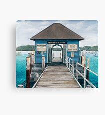 Palm Beach Wharf Canvas Print