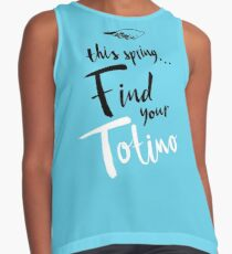 Find Your Totino (but blue) Contrast Tank