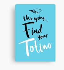 Find Your Totino (but blue) Canvas Print