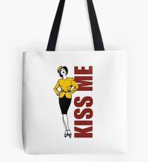 Kiss Me Best Statement Design Tote Bag