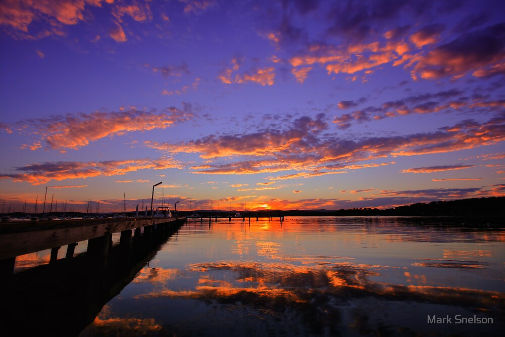 Croudace Bay Sunset 5 by Mark Snelson