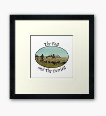 The Fast and The Furriest Framed Print