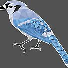 Fractal Blue Jay by Robert Bruce Anderson