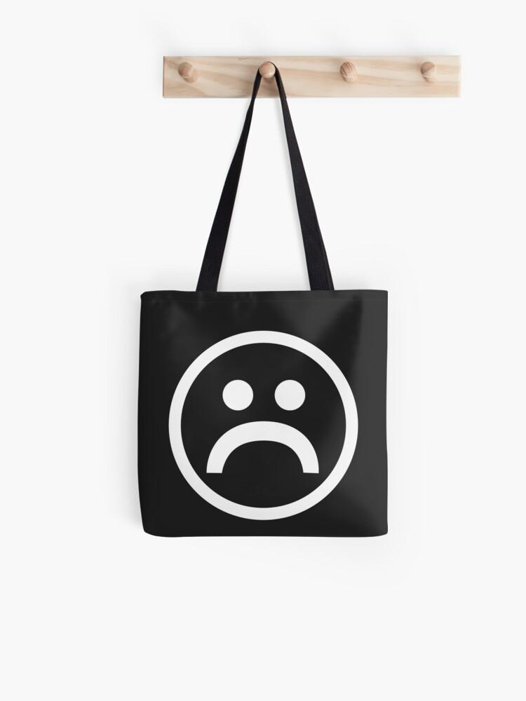 Sad Boy Logo Tee Tote Bag By Keanudesmet Redbubble