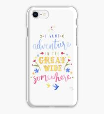 Beauty and the Beast Adventure Typography iPhone Case/Skin