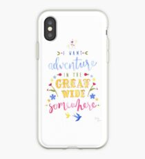 Beauty and the Beast Adventure Typography iPhone Case