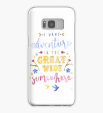 Beauty and the Beast Adventure Typography Samsung Galaxy Case/Skin