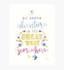 Beauty and the Beast Adventure Typography Art Print