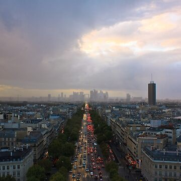 Paris from the top of the Arc de Triomphe by neoweb