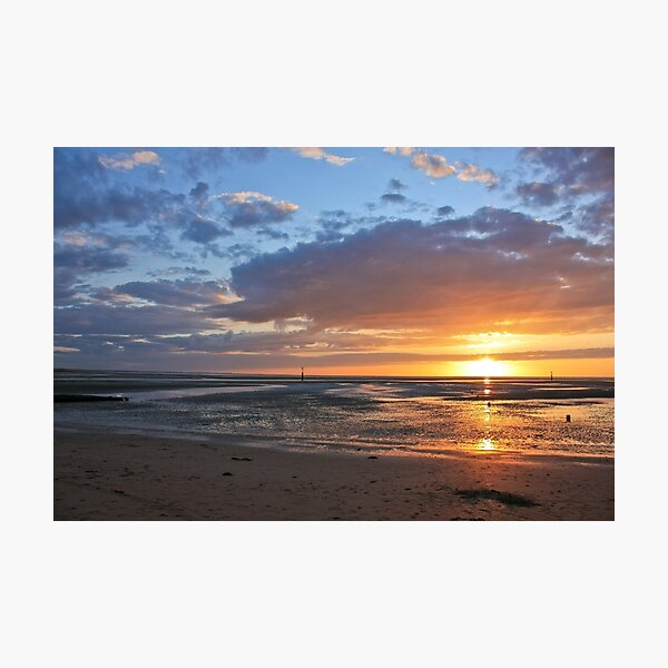 Sunset in Normandy Photographic Print