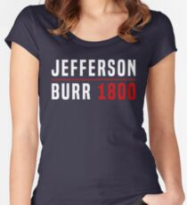 Jefferson/Burr Campaign T-Shirt Women's Fitted Scoop T-Shirt