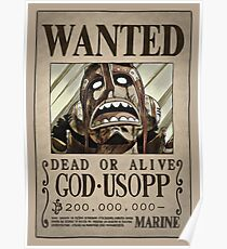 One Piece Wanted Poster: Usopp Poster