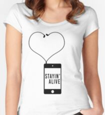 Stayin' Alive Women's Fitted Scoop T-Shirt