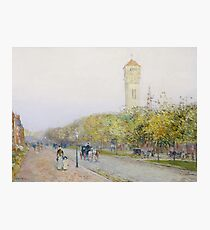 Childe Hassam - Commonwealth Avenue, Boston Photographic Print