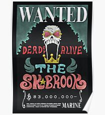 One Piece Wanted Poster: Brook Poster