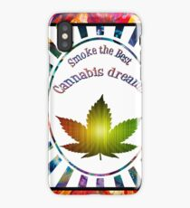 Marihuana cannabis logo  iPhone Case/Skin