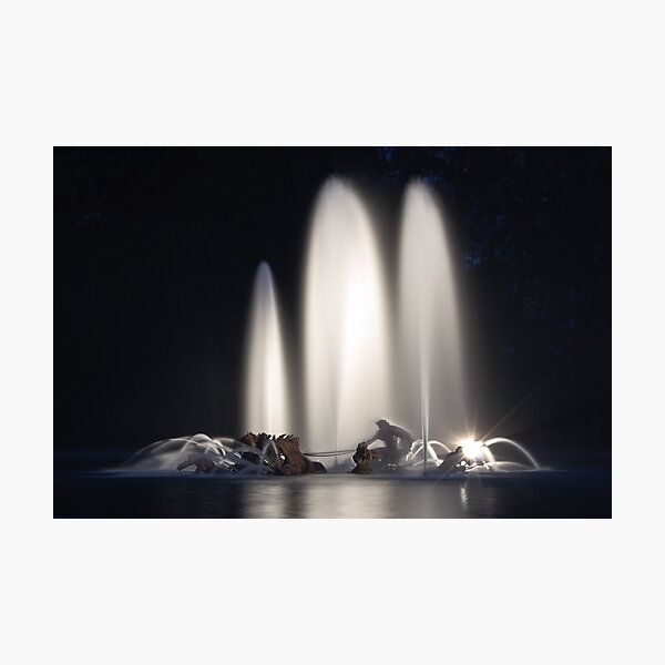 Great nocturnal waters - Versailles Photographic Print