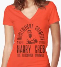 Harry Greb Women's Fitted V-Neck T-Shirt