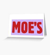 Moe's Tavern Greeting Card