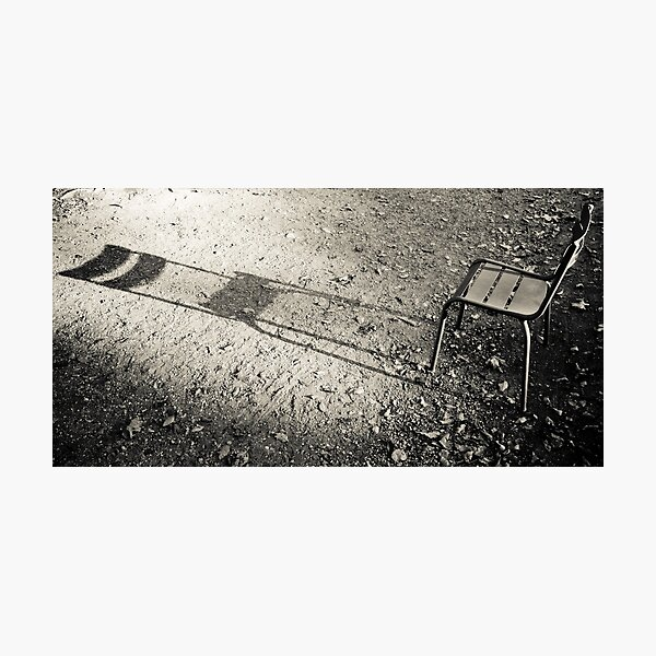 A shadow in the Luxembourg garden Photographic Print