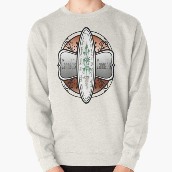 Cannabis vintage logo Pullover Sweatshirt