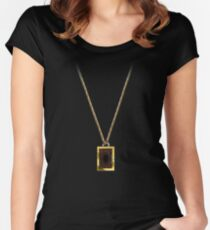 Yu-Gi-Oh! Seto Kaiba Necklace Women's Fitted Scoop T-Shirt