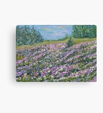 Thoughtful Meadow, impressionism landscape Canvas Print