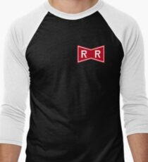 Red Ribbon Army Logo Men's Baseball ¾ T-Shirt