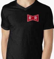 Red Ribbon Army Logo Men's V-Neck T-Shirt