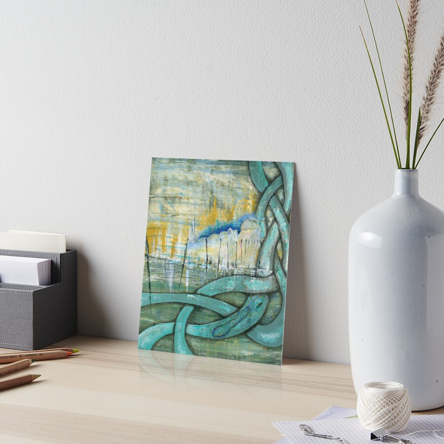 Touching Points Art Board Print