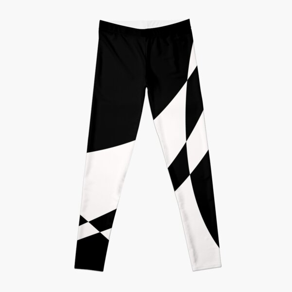 Black and White with a Twist by Julie Everhart Leggings
