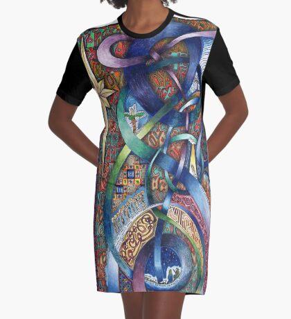 Follow Him - Original Graphic T-Shirt Dress