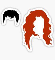 Minimalist Will & Grace Sticker