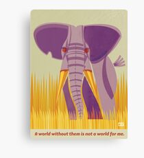Elephant Conservation Illustration Canvas Print