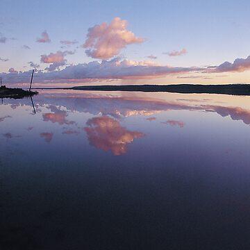 Sunrise over Port Gregory Salt Lake, Western Australia by nickpage