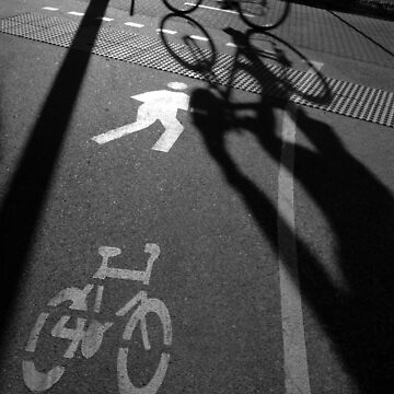 morning cyclist (black & white), Perth, Western Australia by nickpage