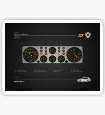 Lancia Delta Integrale HF dashboard illustration Sticker