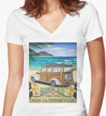Morwong Reef Women's Fitted V-Neck T-Shirt