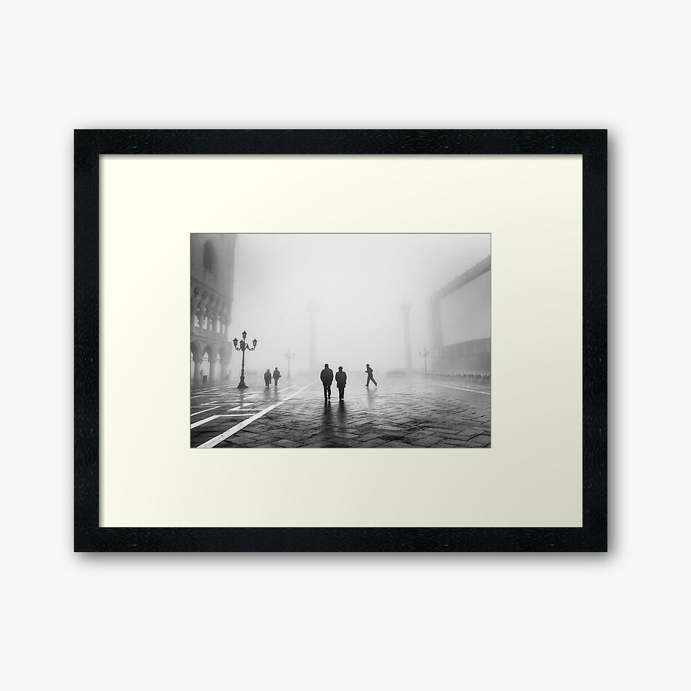 Venetianischer Nebel, Venedig, Italien Gerahmter Kunstdruck