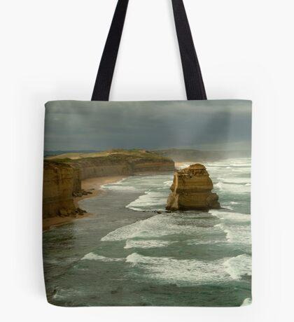 Morning Sunlight and Dark Skies, Great Ocean Rd Tote Bag
