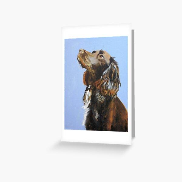 Spaniel Painting Greeting Card