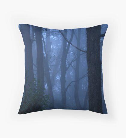 Blue mist Throw Pillow