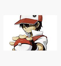 Pokemon - Trainer red Photographic Print