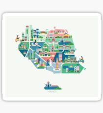 Map of hanoi Sticker
