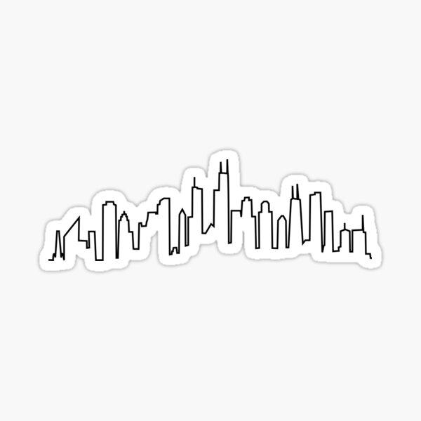 Chicago City Skyline Sticker