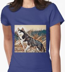 The Siberian Husky Womens Fitted T-Shirt