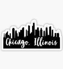 Chicago, Illinois City Skyline Sticker