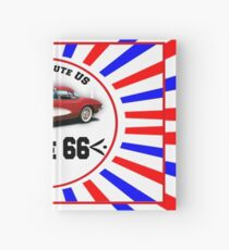 Route 66 vintage logo Hardcover Journal