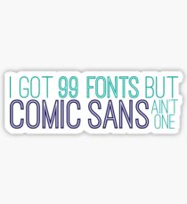 comic sans Sticker