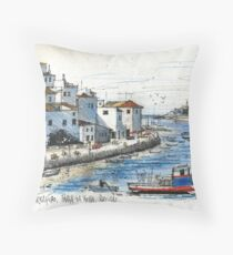 Ferragudo, Praia da Rocha, Portugal Throw Pillow